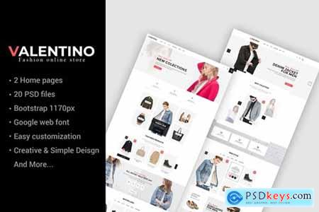 Valentino - Multipurpose eCommerce PSD Template