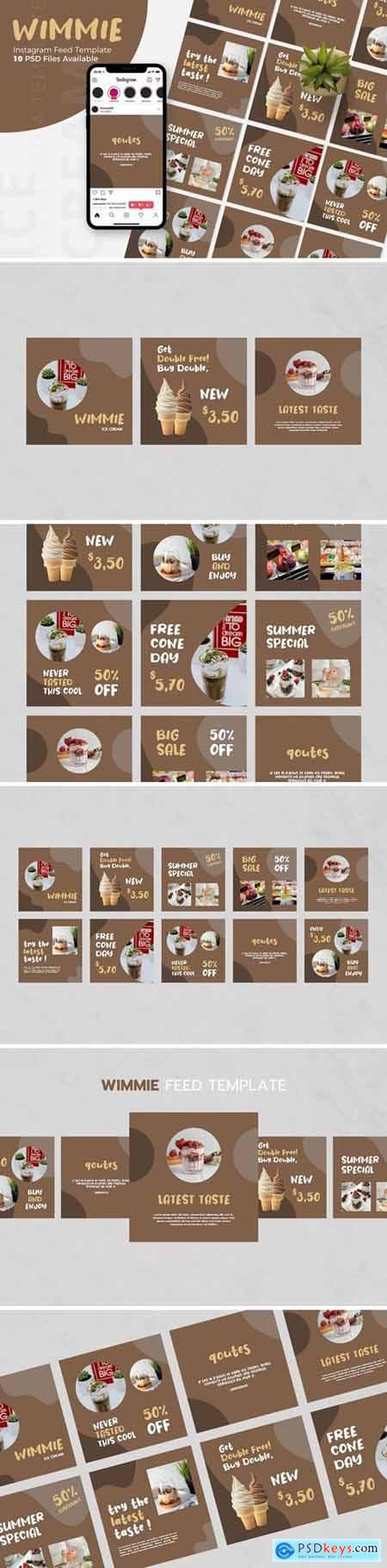 Wimmie - Ice Cream Instagram Post Template