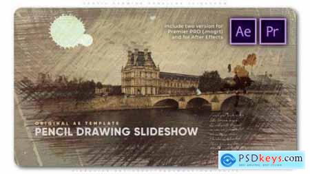 Pencil Drawing Parallax Slideshow 26752736