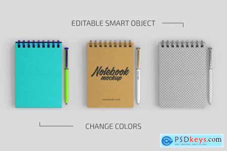 Spiral Notebook Mockup Set 4951573