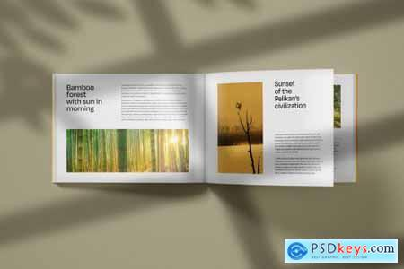 Horizontal Catalogue and Magazine Mockup Set 4979491