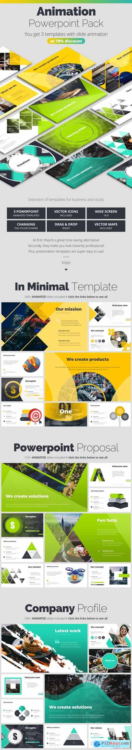 Pitch Deck Animated Bundle 25251400