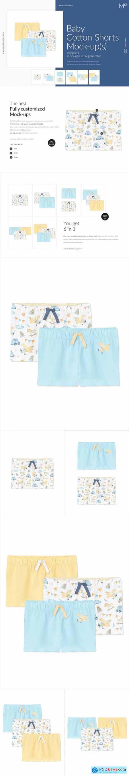 Baby Cotton Shorts Mock-ups Set 4662071
