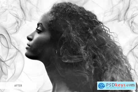 White Smoke Overlays Photoshop 4949072