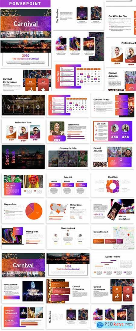 Carnival Business Powerpoint Template Free Download Photoshop Vector Stock Image Via Torrent Zippyshare From Psdkeys Com