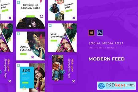 Modern Social Media Post