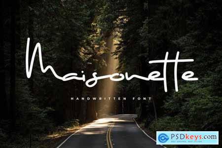Maisonette - Elegant Handwritten Font