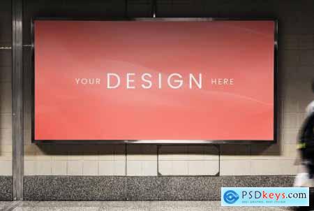Mockup of an advertisement billboard 844152