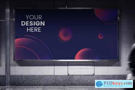 Mockup of an advertise billboard 844154