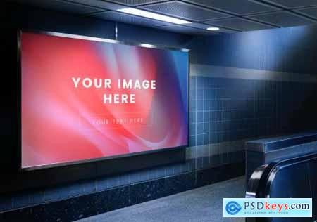 Mockup of an advertisement billboard 844155
