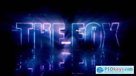 Neon Glitch Logo Reveal 26820340