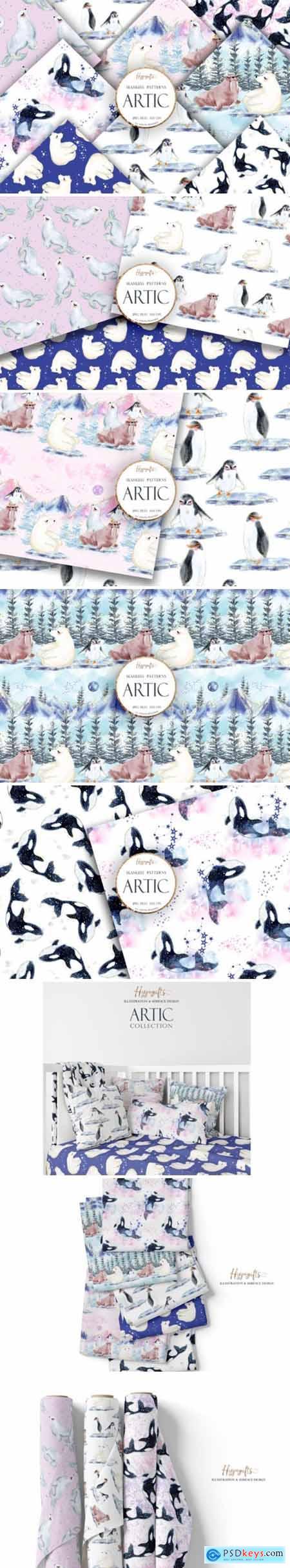 Artic Animals Patterns 4195977