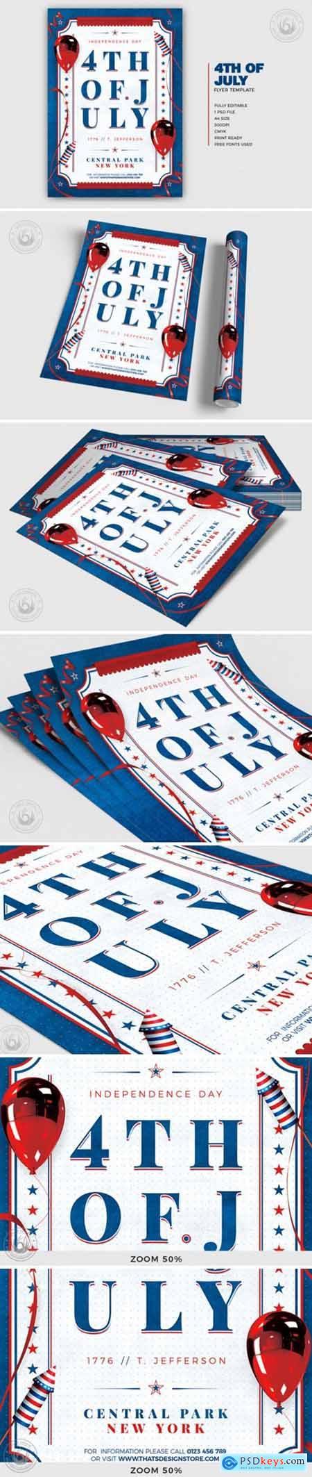 Independence Day Flyer Template V3 4195627
