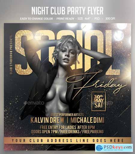 Night Club Party Flyer 24109076