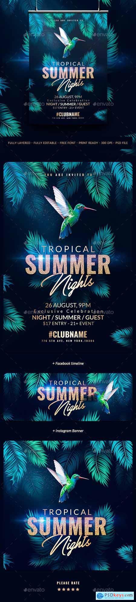 Tropical Summer Flyer Template 24226854