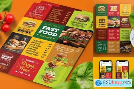 Fast Food Menu Flyer