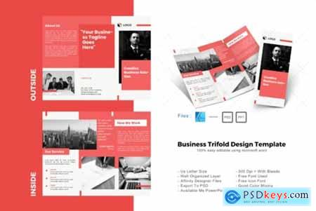Maroon Trifold Brochure Design Template