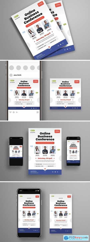 Online Business Conference Flyer Set ED762V4