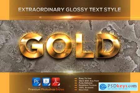 Extraordinary Glossy Text Style