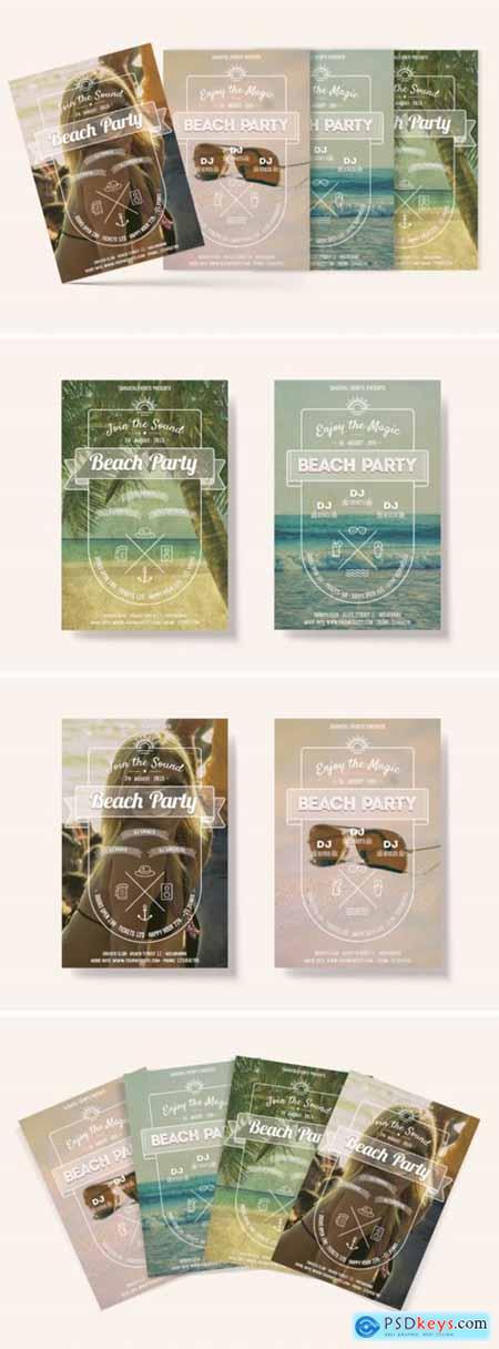 Beach Party Flyers 4057799