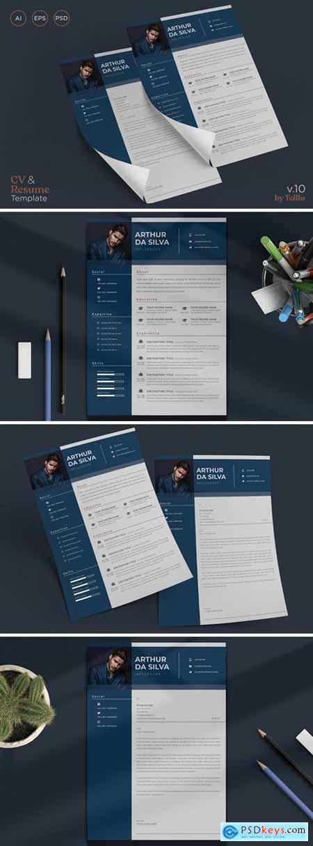 Resume CV Template v10