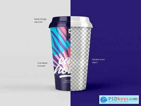 Take Away Paper Coffee Cup Mockup Set
