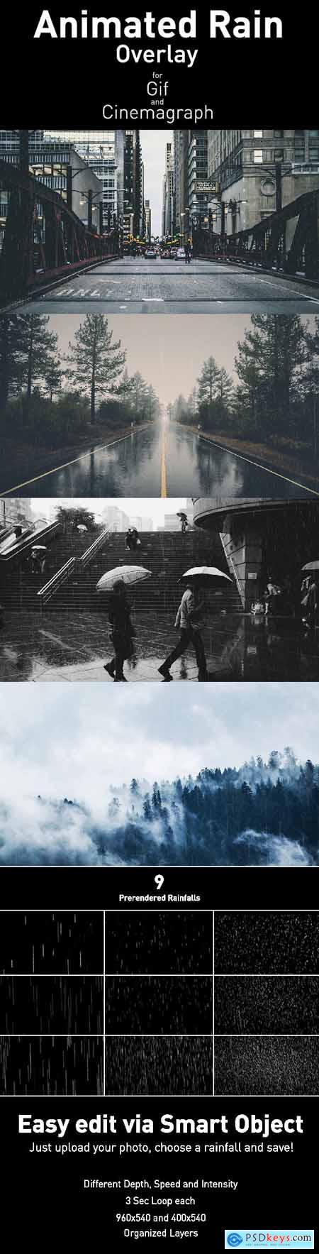 Animated Rain Overlay 18600498