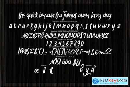 Hokese Brush Typeface