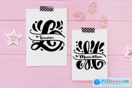 Split Letter Name Font 4982111