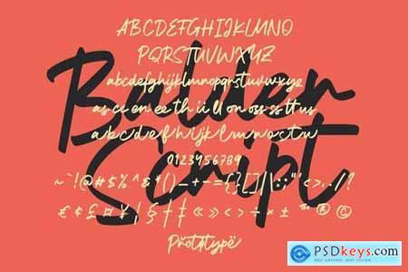 Balder Script Font