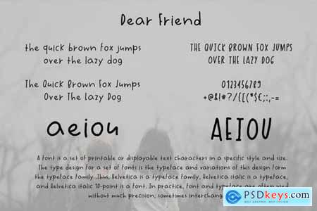 Dear Friend Handwritten Font