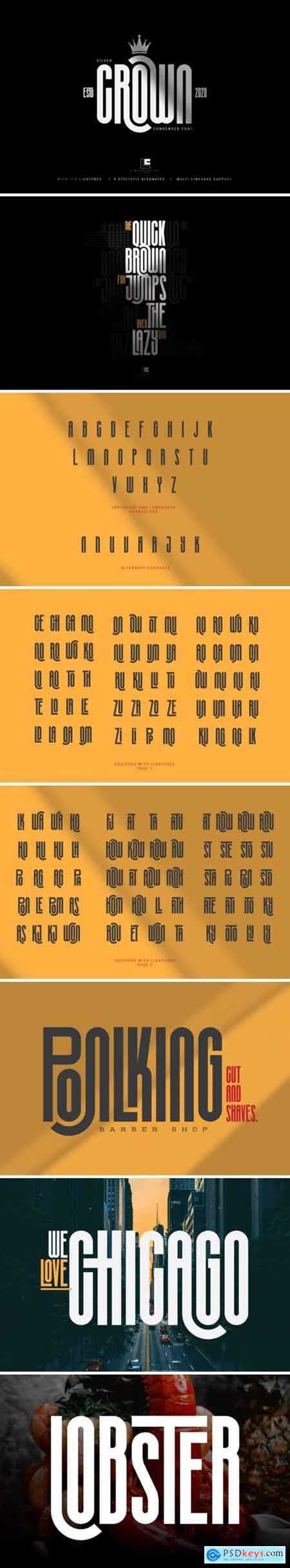 Silvel Crown Font