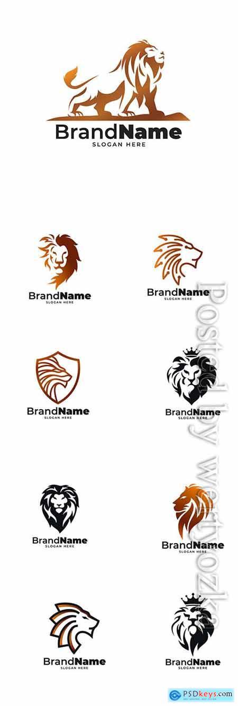 Brand name logo collection vector illustration