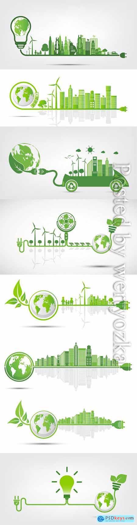 Ecology and Environmental vector concept