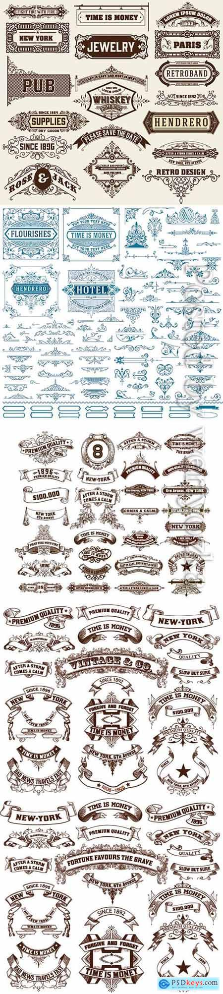 Vintage resources for invitations, banners, posters