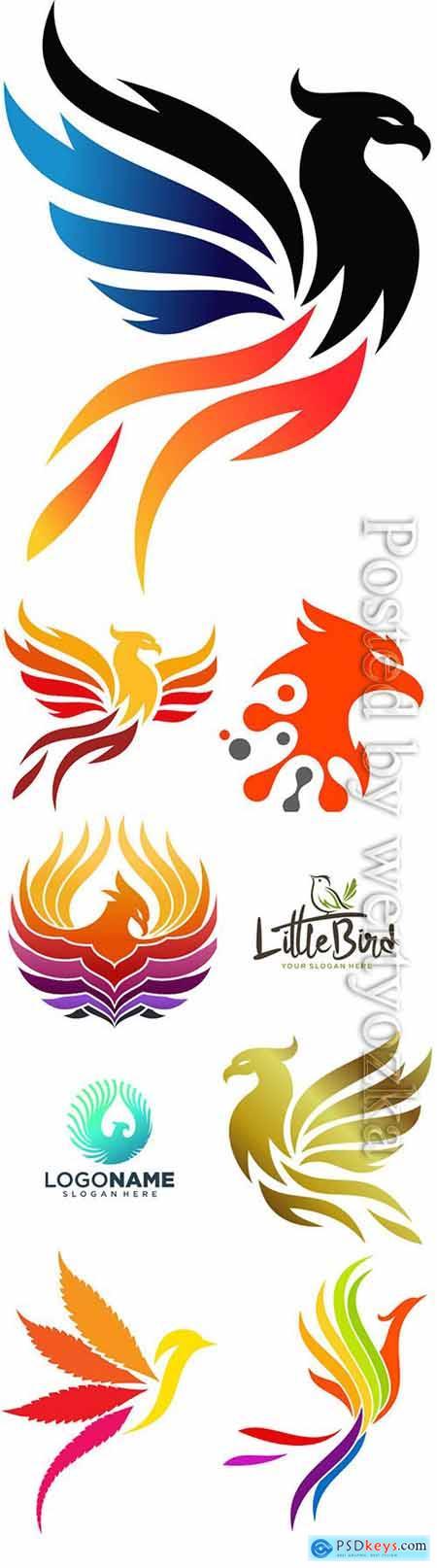 Phoenix logo collection vector illustration