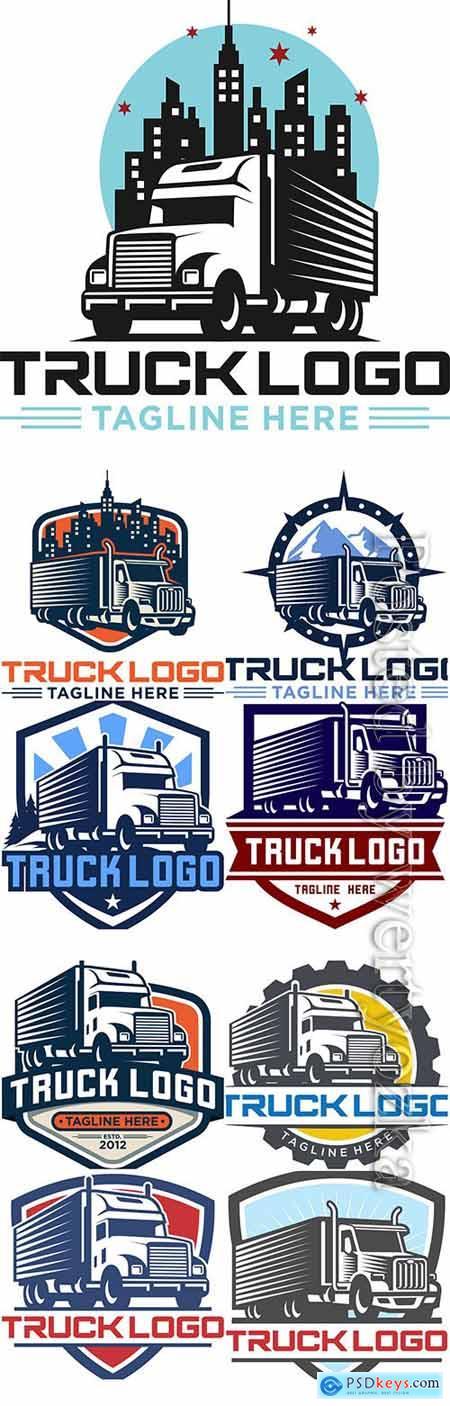 Truck logo collection vector illustration