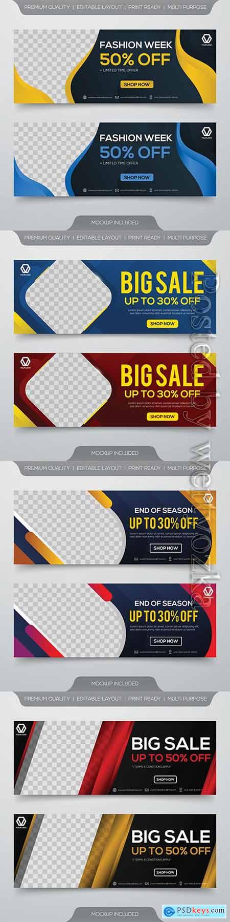 Sale banner template vector design