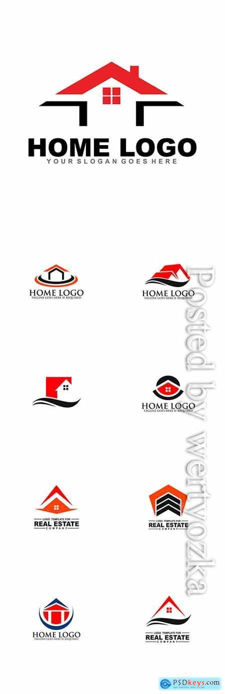 Home logo collection vector illustration