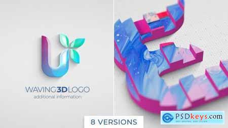 Waving 3D Logo Reveal 26049113