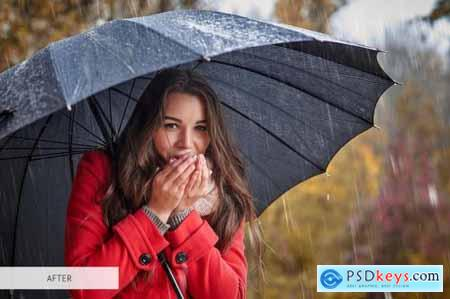 Rain Overlays Photoshop 4940346
