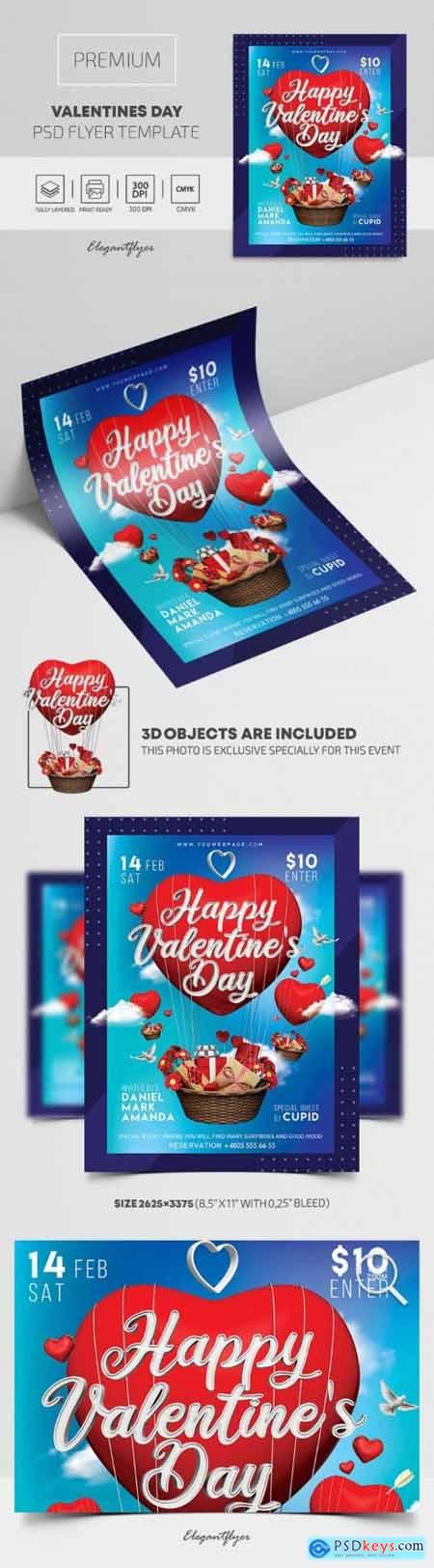 Valentines Day – Premium PSD Flyer Template