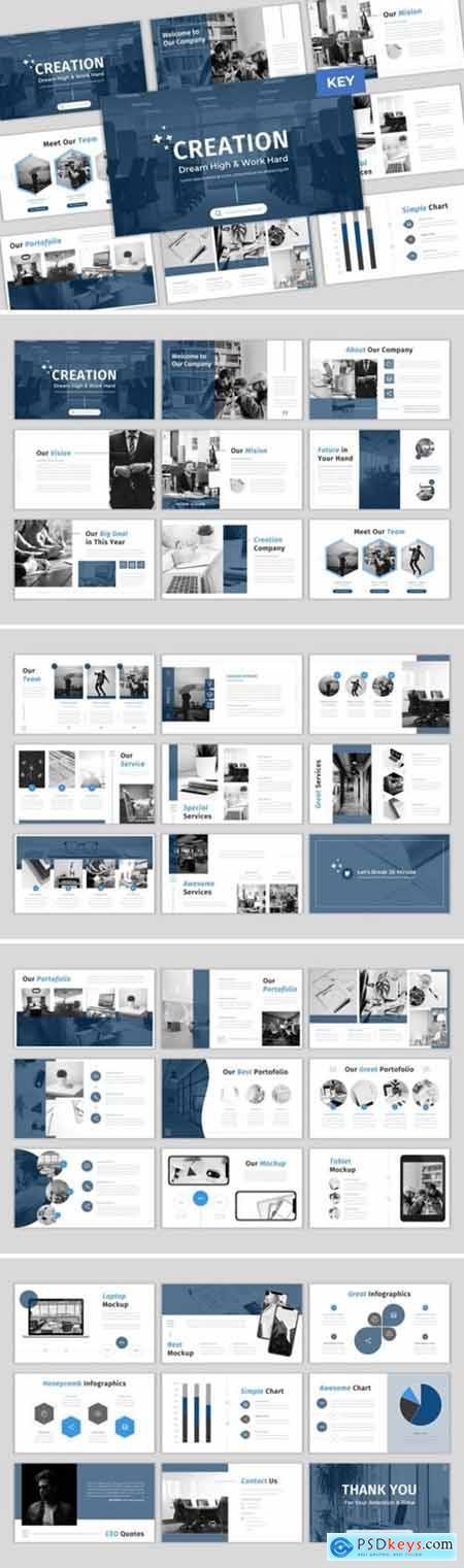 Creation - Creative & Elegant Keynote Template 4207445