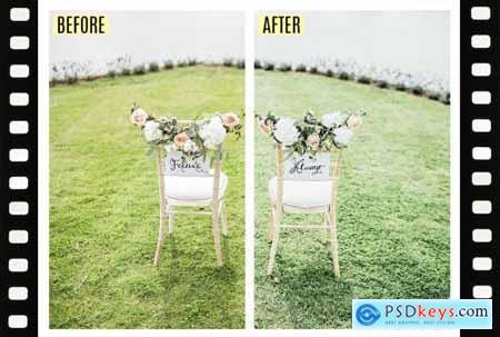 10 desktop + mobile Wedding presets 4893328