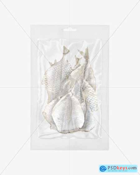 Bag With Dry Fishes Mockup