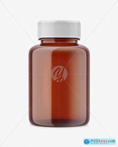 Amber Pills Bottle Mockup 61075