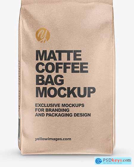 Kraft Coffee Bag Mockup 61225