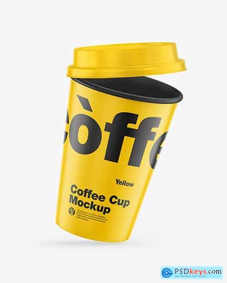Matte Coffee Cup Mockup 60885