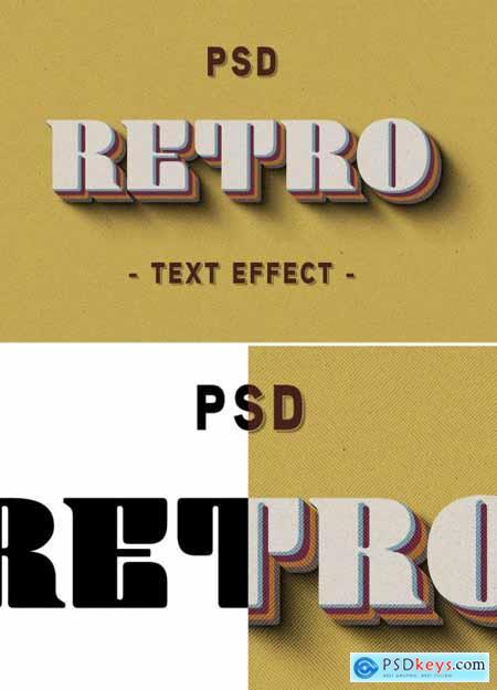 3D Retro Text Effect 353716494