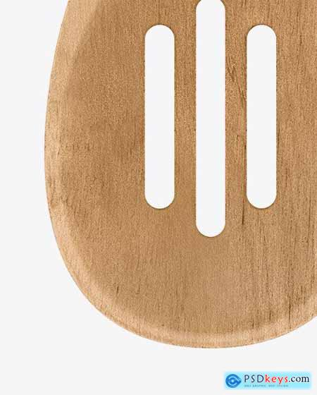 Wooden Kitchen Slotted Spoon Mockup 61207